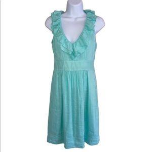 Vineyard Vines Dresses - Vineyard Vines Pucker Stripe Ruffle Dress Size 0